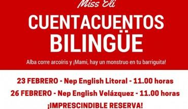 Cuentacuentos bilingüe gratis en Málaga