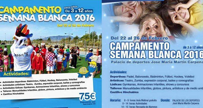 Campamentos de Semana Blanca Deportae en Málaga