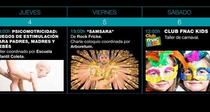 FNAC programación actividades febrero 16 marbella cabecera
