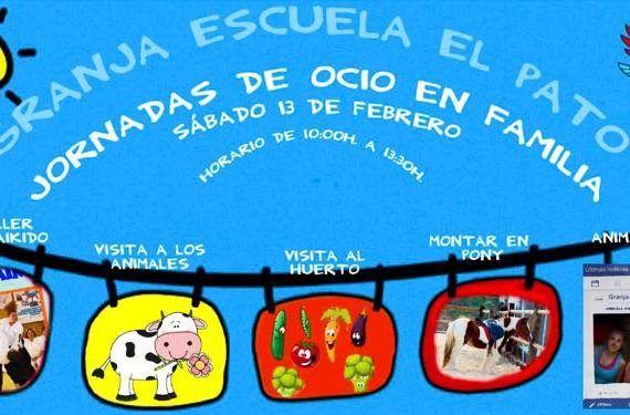 Jornada de ocio en familia en Granja Escuela El Pato cabecera