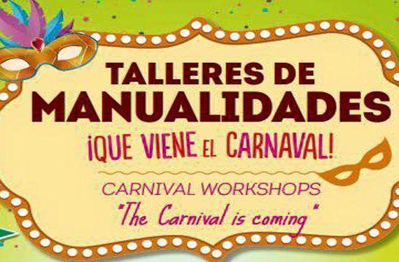 talleres carnaval máscaras disfraz ludoteca corte inglés mijas cabecera