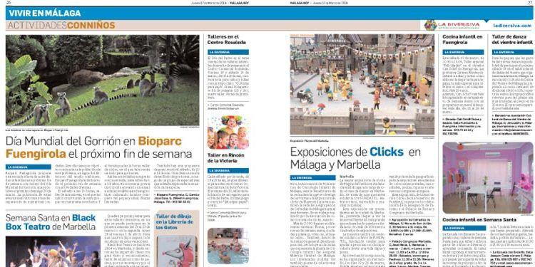 sección actividades con niños málaga hoy la diversiva segunda edición
