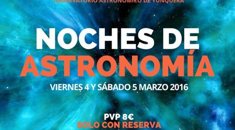 Observaciones astronómicas en Yunquera