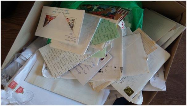 montón de cartas