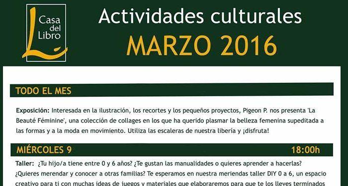 Cuentacuentos en marzo en Casa del Libro Málaga