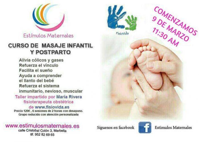 Curso de masaje infantil y postparto