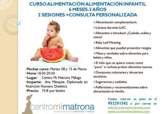 Curso de alimentación para bebés