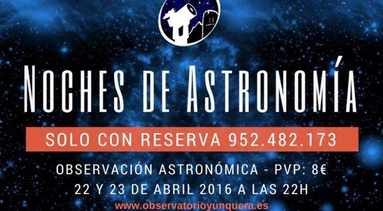 Noches de astronomía en Yunquera