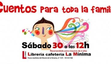 Cuentos para toda la familia en la Librería La Mínima abril 16