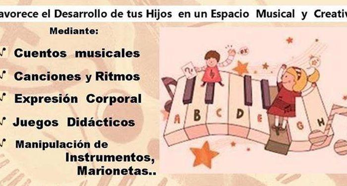 Talleres gratuitos de Educación Musical Temprana en Torremolinos