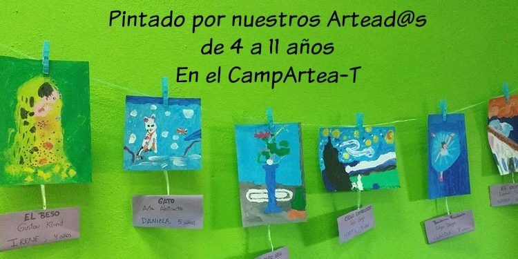 exposición campamento de verano 2016 Artea-T