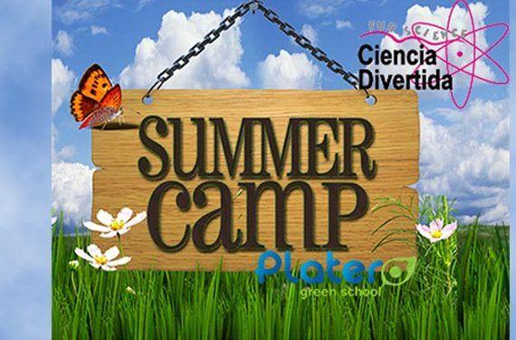 Campamento de verano de Ciencia Divertida Platero Green School.