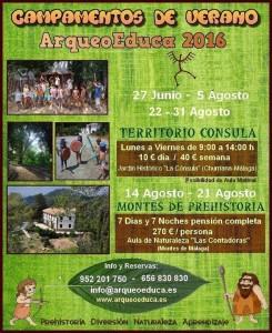 Cartel campamento de verano ArqueoEduca