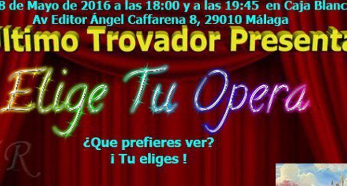 Compañía El Último Trovador espectáculo 'Elige tu ópera', iniciación a la ópera para niñas y niños