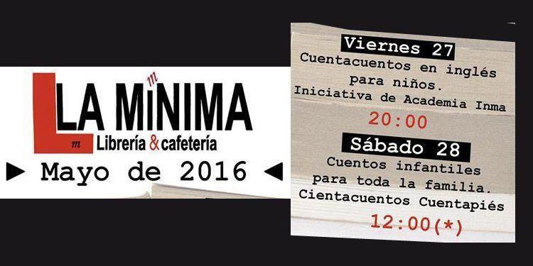 cuentacuentos para niñas y niños en la librería La Mínima.