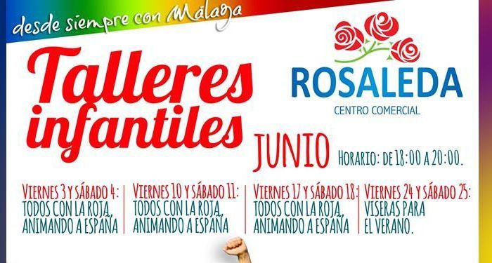 talleres niños cartel rosaleda la roja viseras