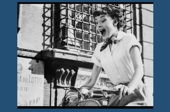 imagen Audrey Hepburn en Vacaciones en Roma