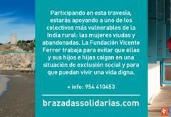 Travesía Brazadas solidarias en favor de Fundación Vicente Ferrer en Rincón de la Victoria