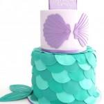 Tarta de cumpleaños de sirena