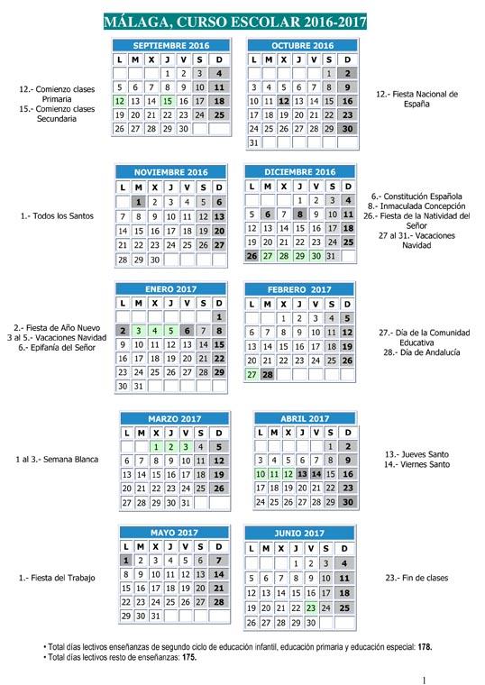 Calendario Escolar 2020 19 Sevilla.Calendario Escolar Andalucia