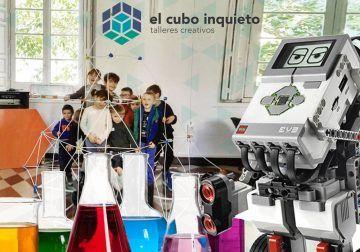 Cursos de robótica, ciencia y arquitectura para niños y jóvenes en El Cubo Inquieto (Málaga)
