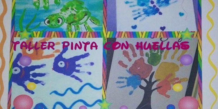 taller pintar con huellas para niños la fábrica de los caramelos