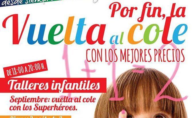 Talleres infantiles en el CC Rosaleda