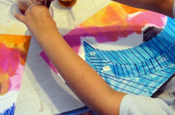 taller fnac pintura niños ola japon