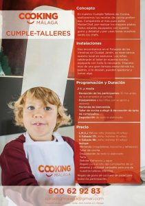 cumpleaños infantiles en Cooking Málaga