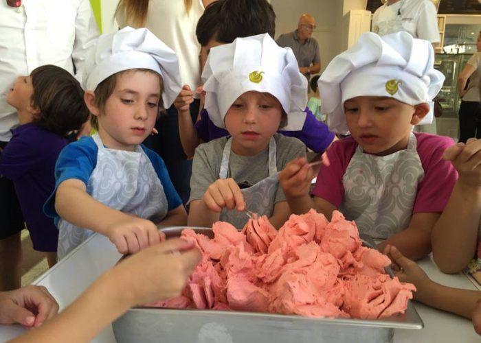 Talleres infantiles de helado en Giolatto