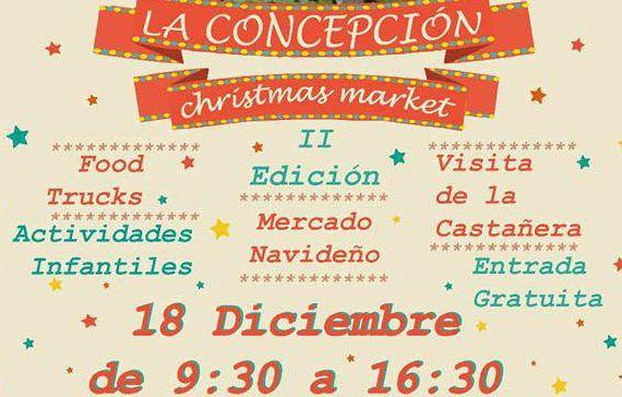 Mercadillo navideño en el Jardín de la Concepción