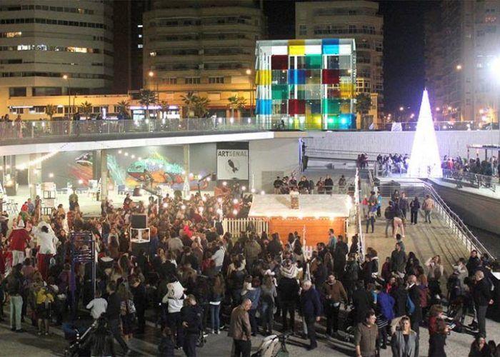 Talleres y juegos infantiles de Navidad en Muelle Uno de Málaga