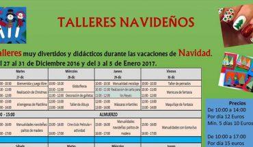 talleres navideños en Pablete's Málaga