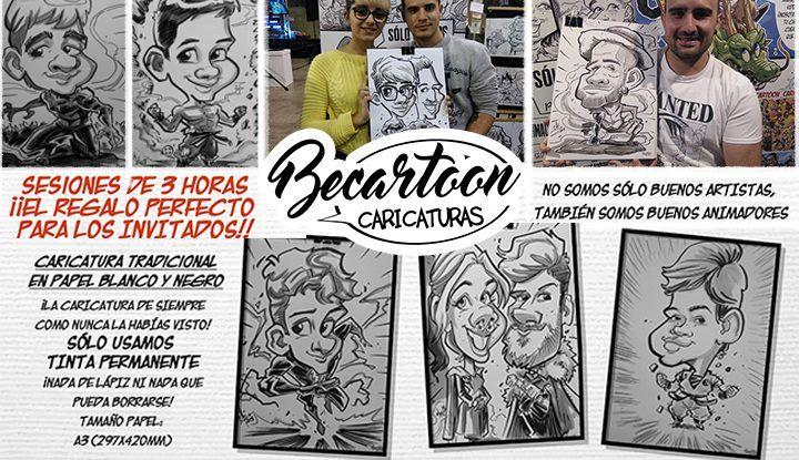 Caricaturas personalizadas para los invitados de tu comunión con BeCartoon