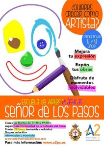 Escuela de artes plásticas para niños cartel