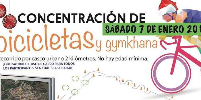 Concentración de bicicletas y gymkhana en Villanueva del Rosario