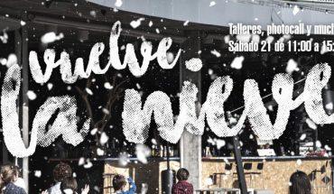 Taller de copos de nieve en Muelle Uno de Málaga