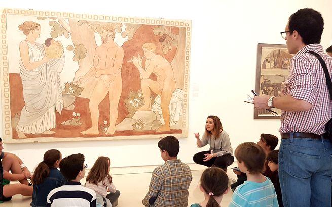 Museo Picasso Málaga con niños