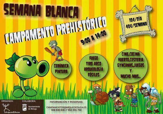 campamento prehistórico Semana Blanca ArqueoEduca