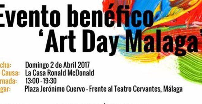 Actividades familiares en el evento 'Art Day Malaga' a beneficio de la Casa Ronald McDonald