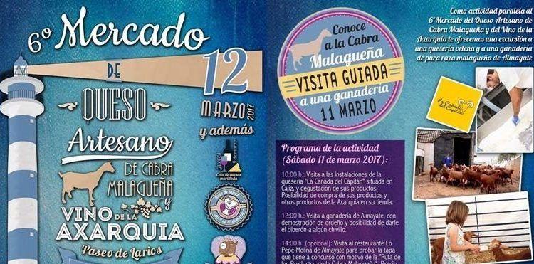 Mercado del Queso Torre del Mar y visita quesería y ganadería en Velez-Málaga