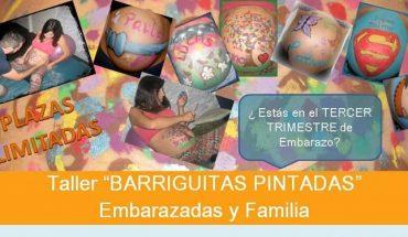 Taller de barrigas pintadas para embarazadas y familias en Málaga