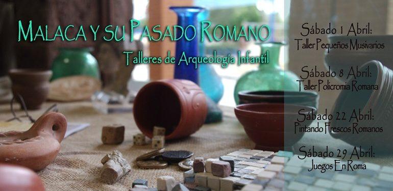 Talleres de arqueología para niños abril en Málaga ArqueoRutas