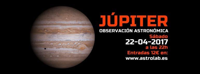 Observación astronómica Júpiter