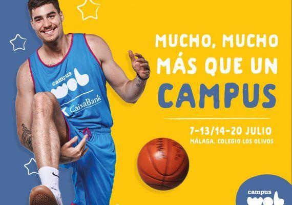 Campus WOB CaixaBank 2019: verano para niños y jóvenes con baloncesto, inglés y mucho más en Málaga