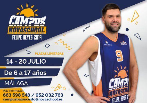 Campus Novaschool Felipe Reyes 2019: baloncesto para niños y jóvenes en Rincón de la Victoria