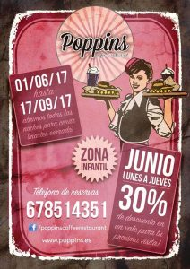 Poppins cena entre semana cartel