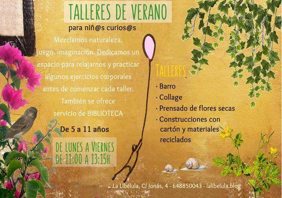 Talleres de verano para niños y niñas curiosos en La Libélula Málaga