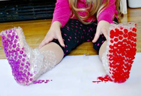 Pintar con burbujas manualidades para niños