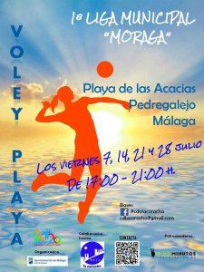 cartel vóley-playa Las Acacias